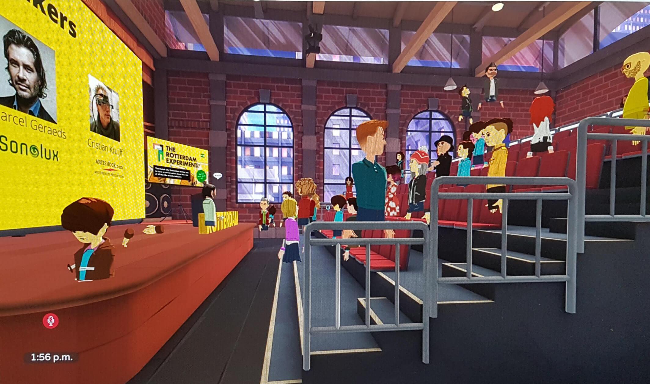 Het experiment ging om het verkennen van de mogelijkheden die mixed reality, VR en AR de evenementenindustrie bieden. Deelnemers konden elkaar ontmoeten in een VR event setting.